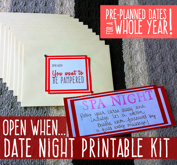 Open When Date Night Printable Kit