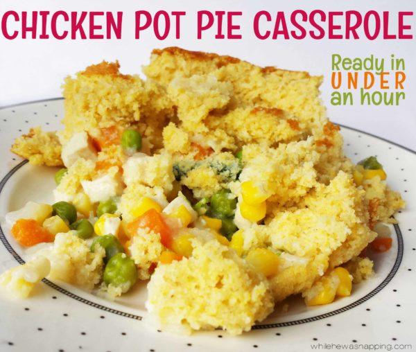 Quick Dinner Chicken Pot Pie Casserole