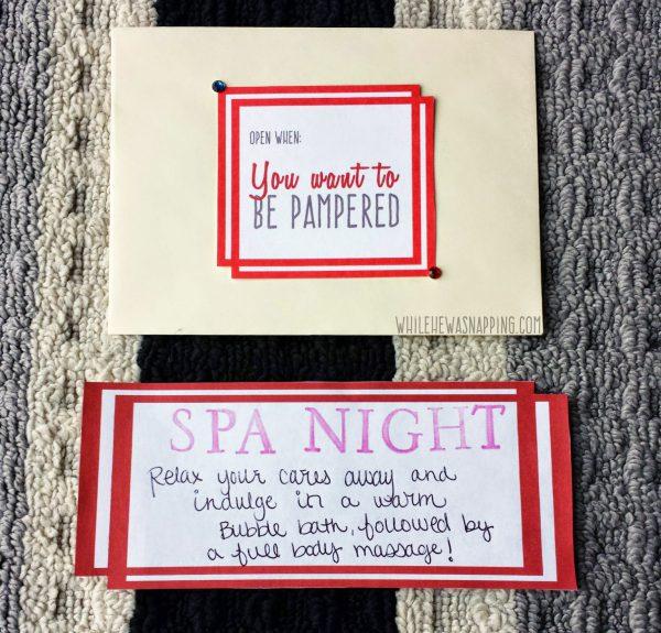 Open When Date Night Kit Year of Date Preplan Specific Dates