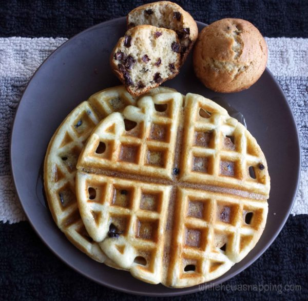 Valentine's Day Dinner-Blueberry Waffles Choc Chip Muffins