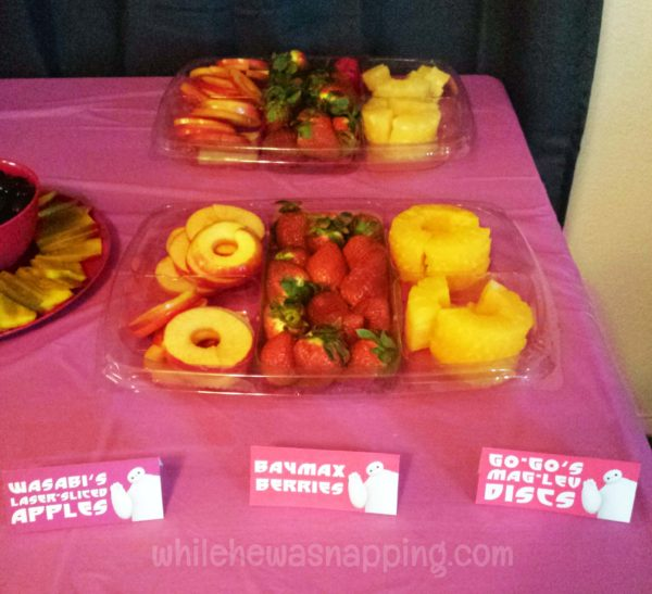 Big Hero 6 Party Food Fruit Tray