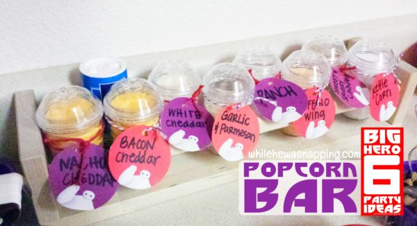 Big Hero 6 Party Popcorn Bar Popcorn Seasonings