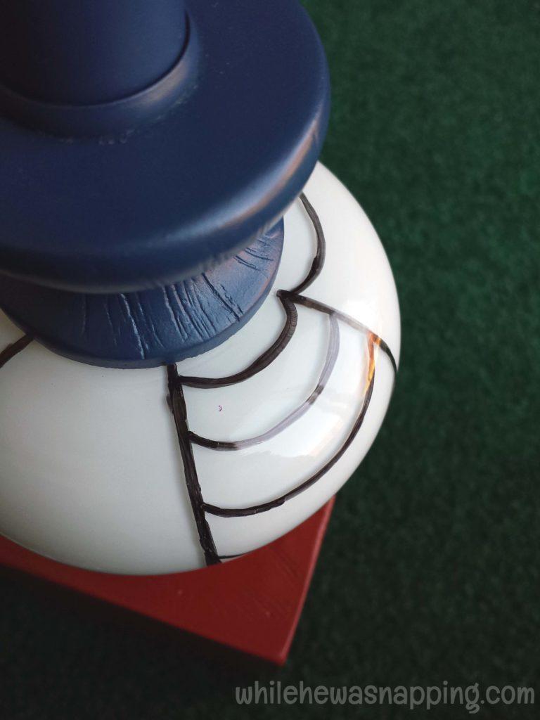 GE Align PM Light Bulb Spider-Man Glass Bulb Web