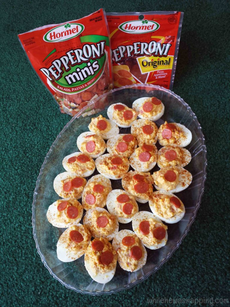 Hormel Pepperoni Deviled Eggs