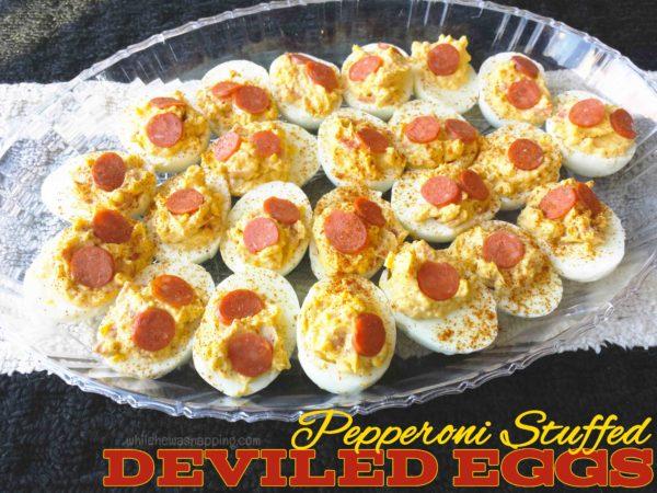 Hormel Pepperoni Stuffed Deviled Egg Recipe