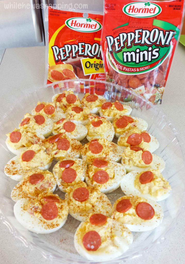 Hormel Pepperoni Stuffed Deviled Eggs