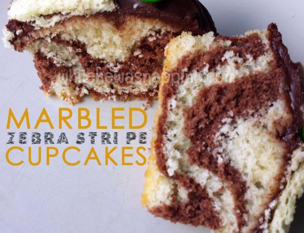 Zebra Stripe Marbled Cupcakes