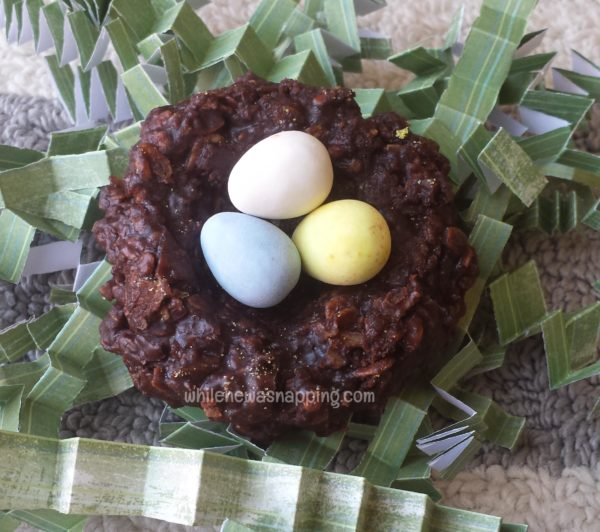 No Bake Chocolate Nest Easter Cookies