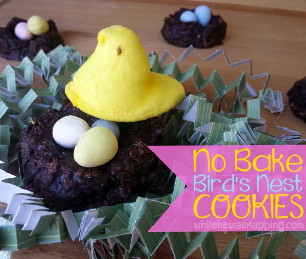 No Bake Peeps Bird's Nest Cookies