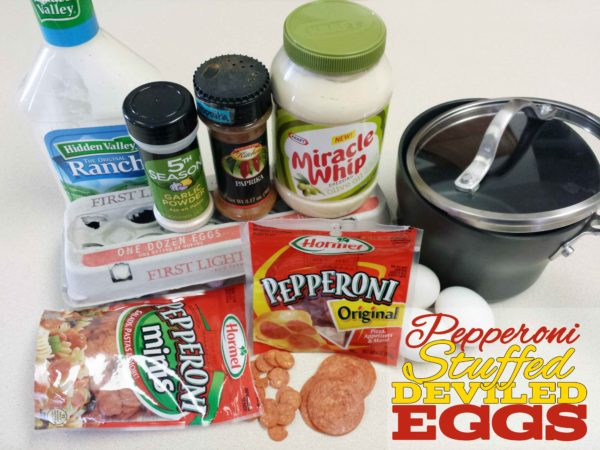 Pepperoni Stuffed Deviled Eggs Ingredients
