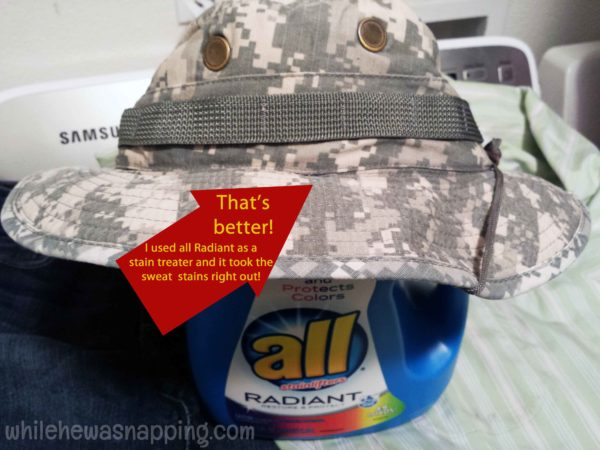 3 Ways to use all Radiant laundry detergent clean hat