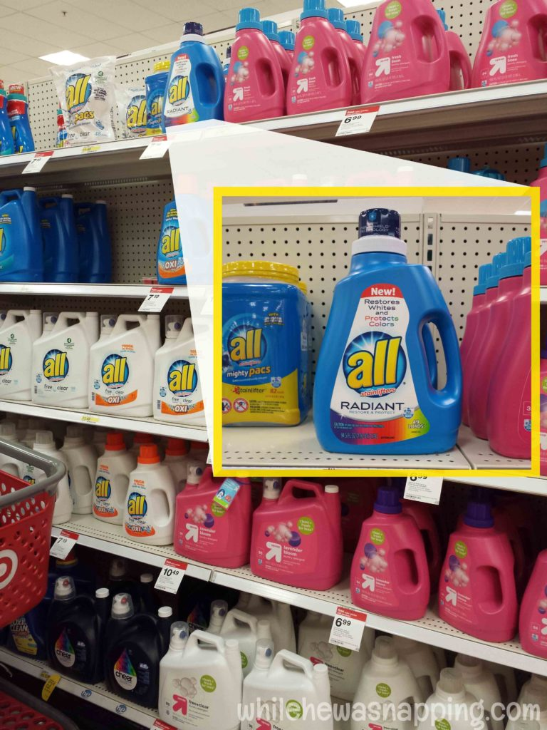 3 Ways to use all Radiant laundry detergent instore