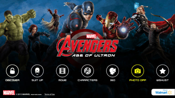 MARVEL's The Avenger's Age of Ultron Super Heroes Assemble App Photo Opp