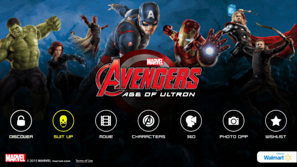 MARVEL's The Avenger's Age of Ultron Super Heroes Assemble App Suit Up