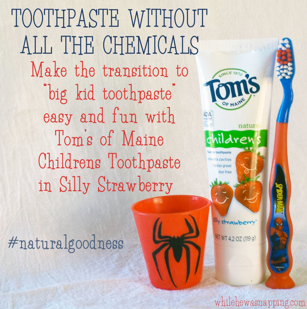 Natural Goodness Toothpaste Without All the Chemicals Labeled