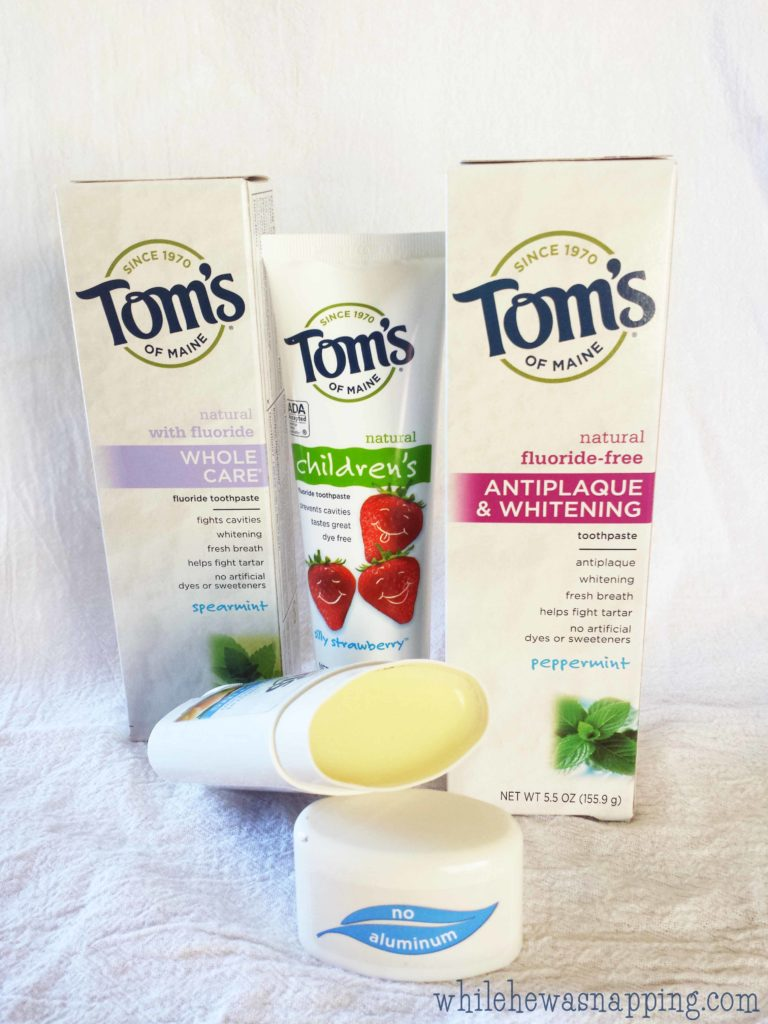 Natural Goodness Toothpaste Without All the Chemicals Tom's of Maine Hygiene