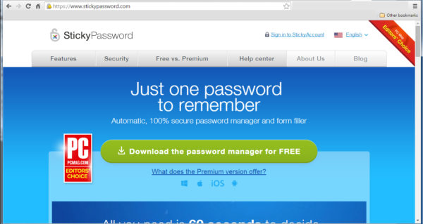 Sticky Password Just One Password