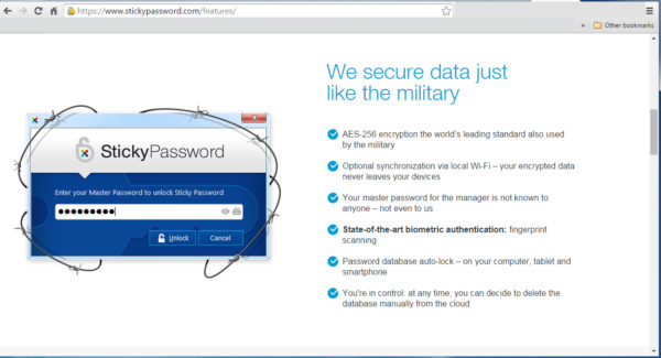 Sticky Password Just One Password Security