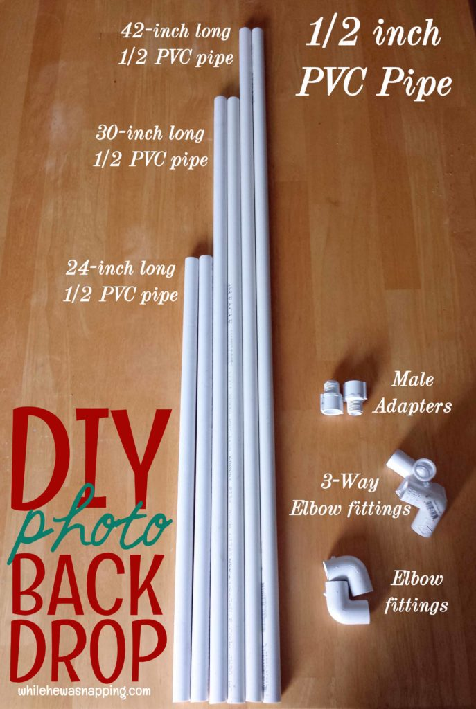 DIY Photo Backdrop Supplies