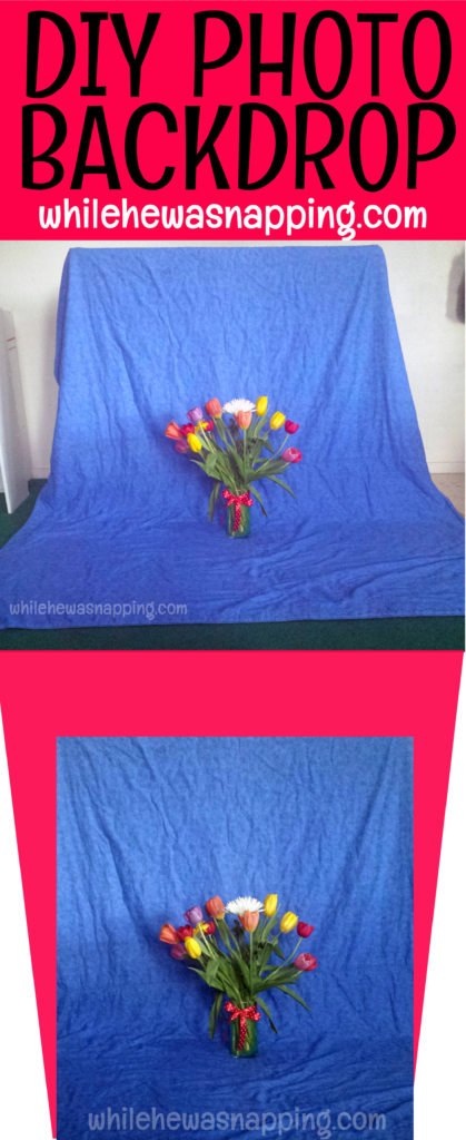DIY Photo Backdrop Tulips