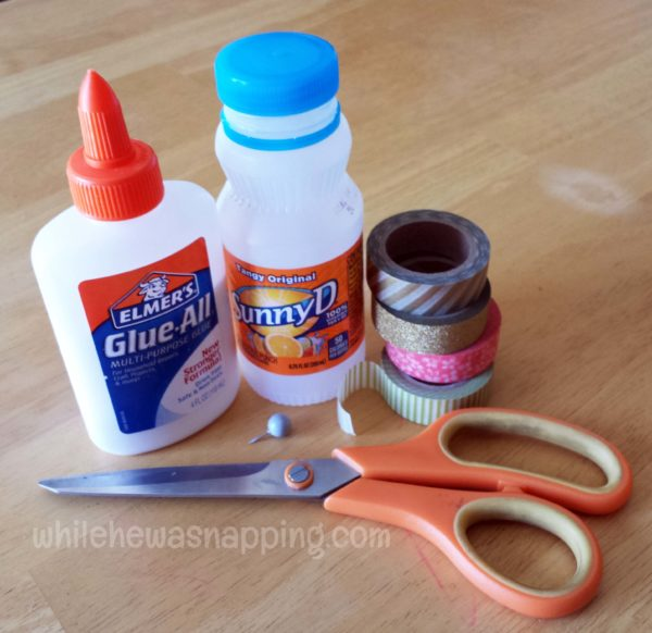 SunnyD Bottle Watering Can Upcycle Materials