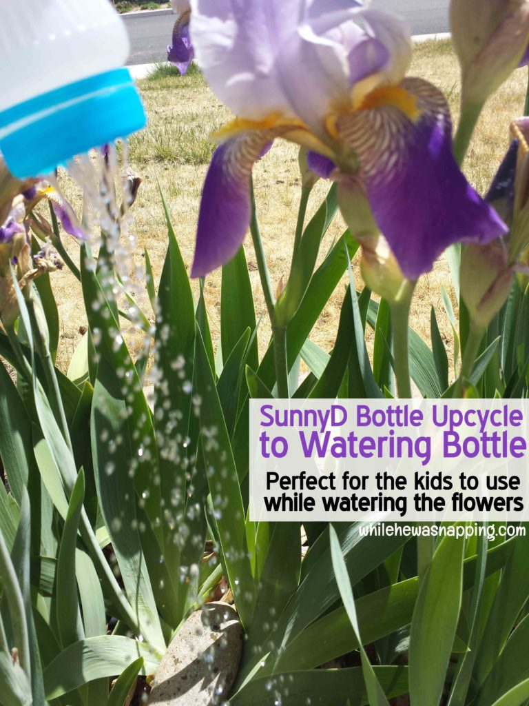 SunnyD Bottle Watering Can Upcycle Water Spray Bottle