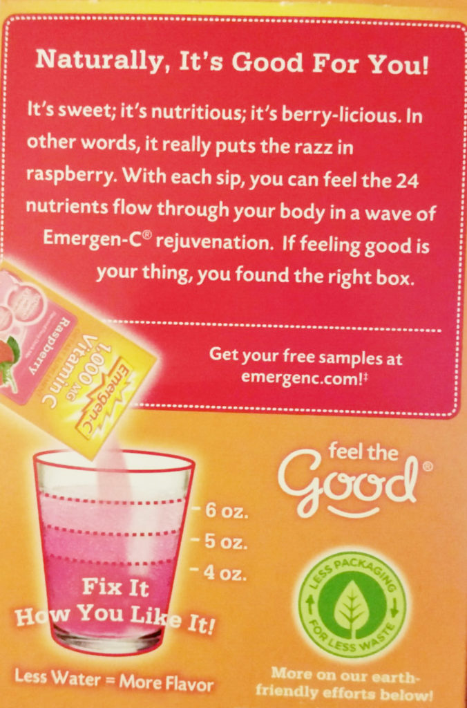 Emergen-C Hydrated and Healthy Raspberry Vanilla Float Fix it How You Like It