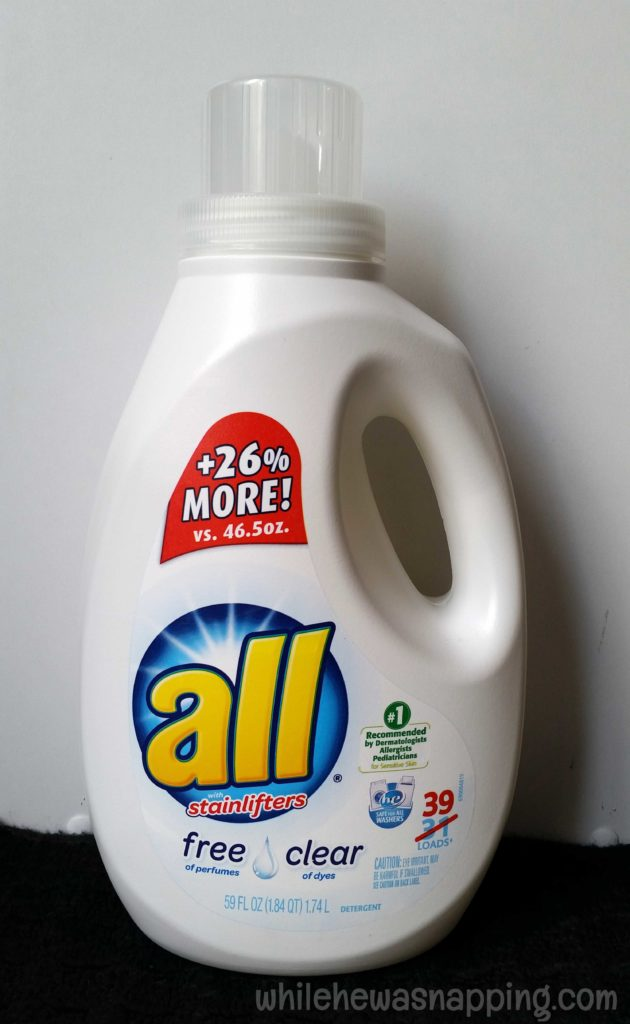 free to be all free clear detergent