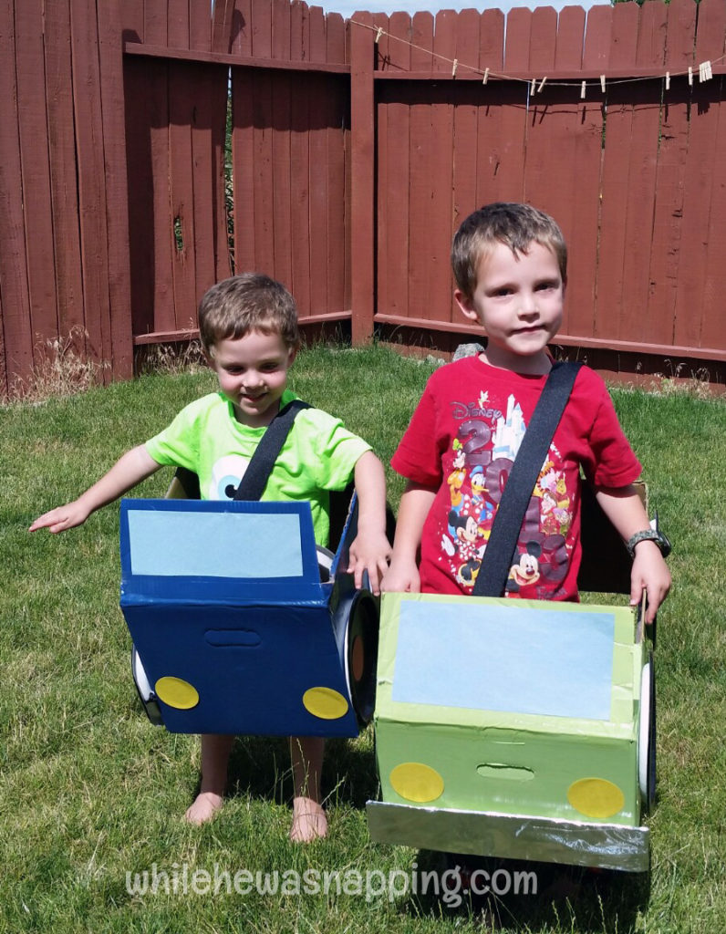 DIY Cardboard Box Cars