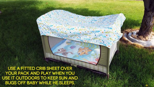 Helping Baby Sleep Better on Vacation Disney Baby Outdoor Pack&Play