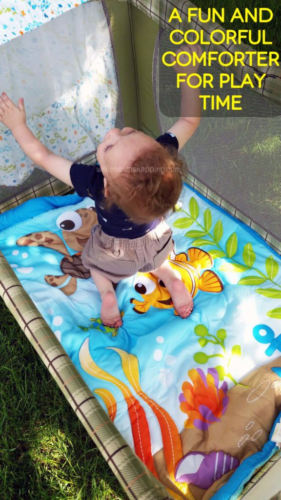 Helping Baby Sleep Better on Vacation Disney Baby Outdoor Play Ground Blanket