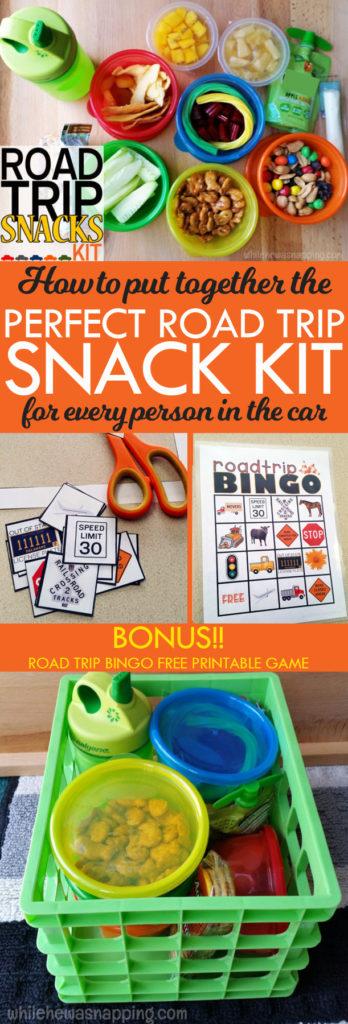 Road Trip Snack Kit Summer Fun Road Trip Snacks Baskets