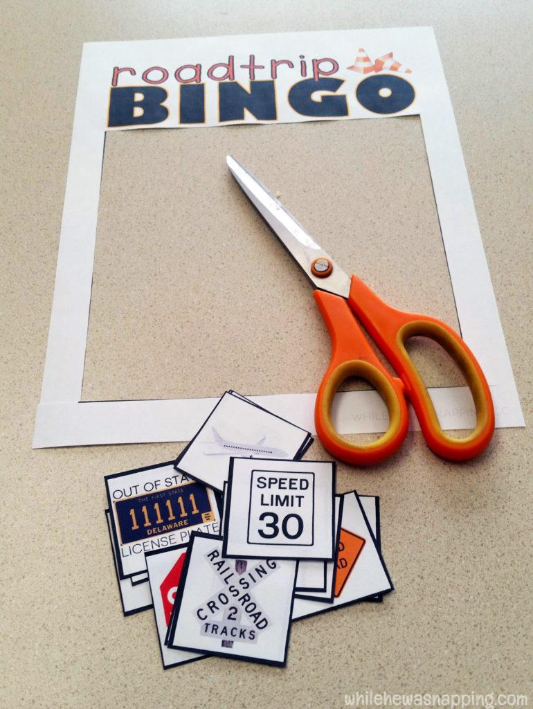 Road Trip Snack KitTwizzlers Summer Fun Bingo Cut out cards