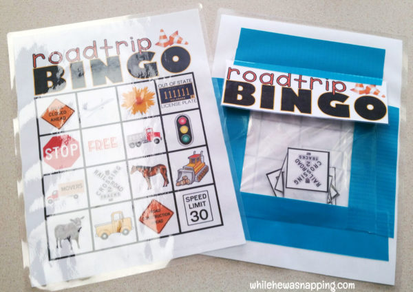 Road Trip Snack KitTwizzlers Summer Fun Bingo Pocket