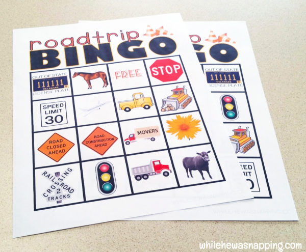 Road Trip Snack KitTwizzlers Summer Fun Bingo Print