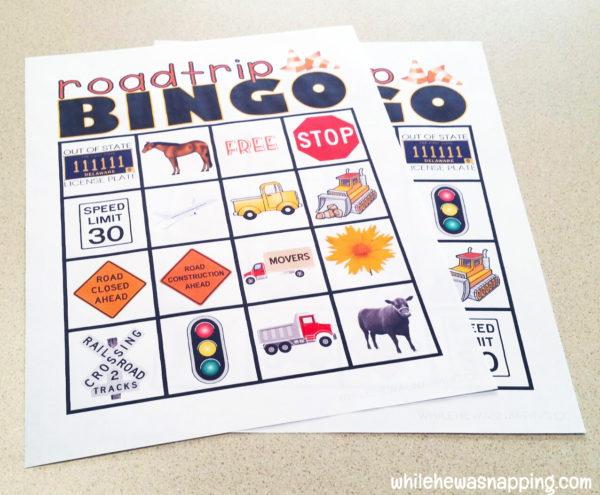 Road Trip Snack KitTwizzlers Summer Fun Bingo Print