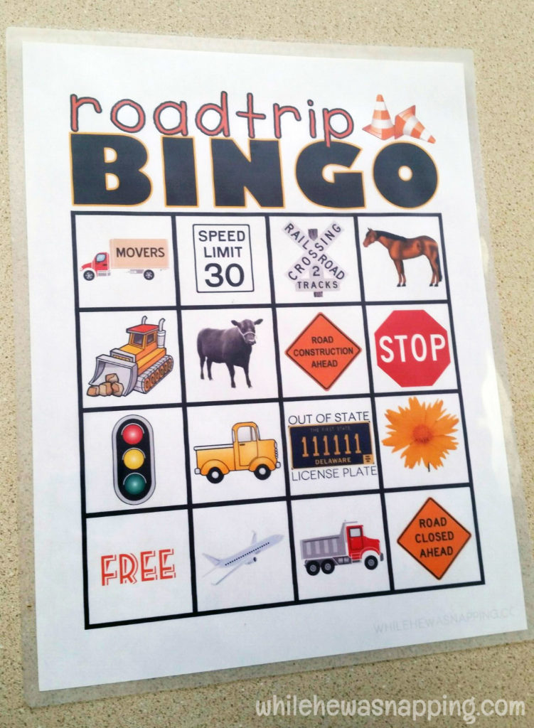Road Trip Snack KitTwizzlers Summer Fun Bingo laminate