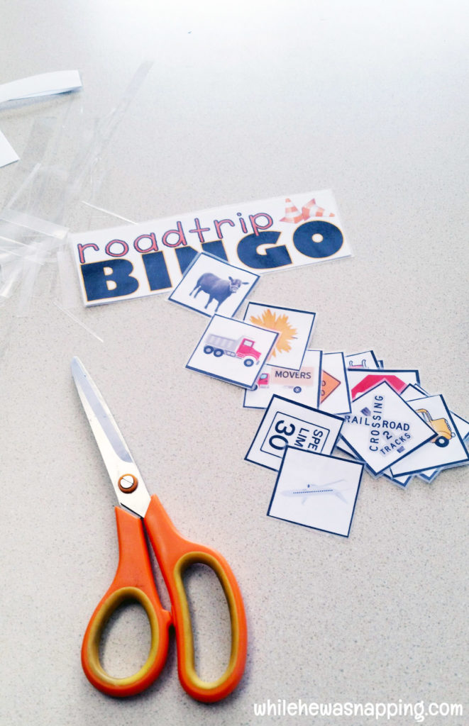 Road Trip Snack KitTwizzlers Summer Fun Bingo laminate cut out