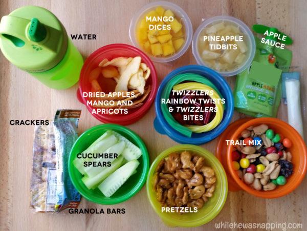 Road Trip Snack KitTwizzlers Summer Fun Snacks Labeled