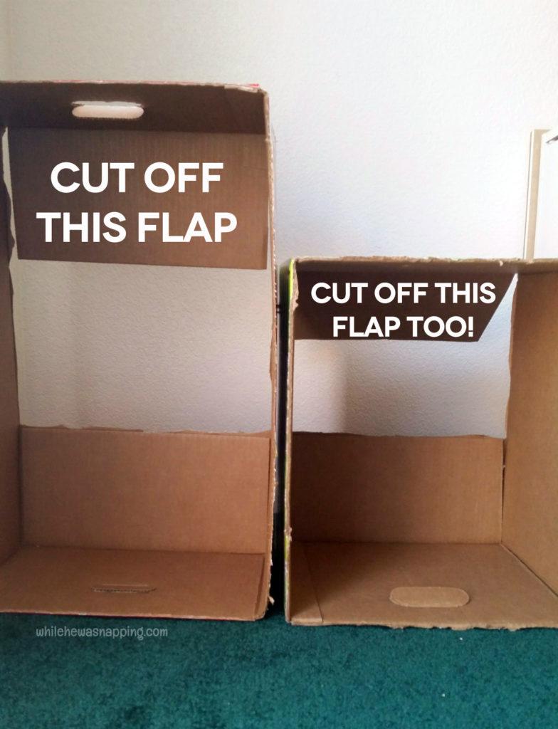 Tyson Any'Tizers DIY Drive-In Cardboard Box Car Box Prep