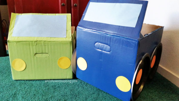 Tyson Any'Tizers DIY Drive-In Cardboard Box Car Front