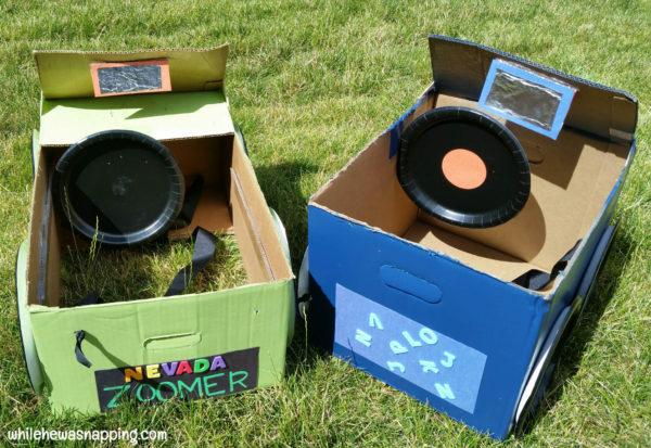 Tyson Any'Tizers DIY Drive-In Cardboard Box Car Rear View Mirror & Steering Wheel