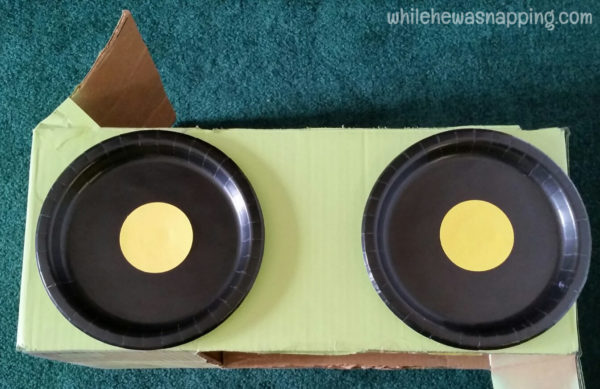 Tyson Any'Tizers DIY Drive-In Cardboard Box Car Wheels
