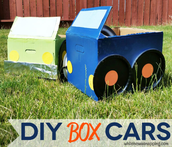Tyson Any'Tizers DIY Drive-In Cardboard Box Cars