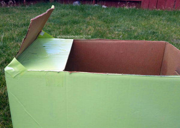 Tyson Any'Tizers DIY Drive-In Cardboard Box Prep
