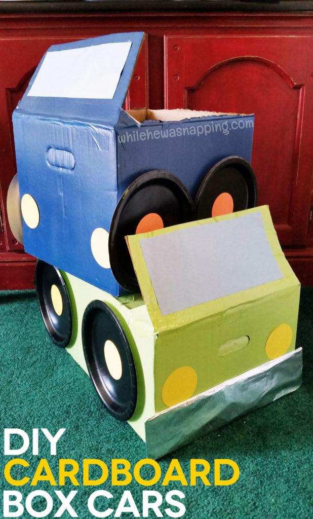 Tyson Any'Tizers DIY Drive-In DIY Cardboard Box Cars