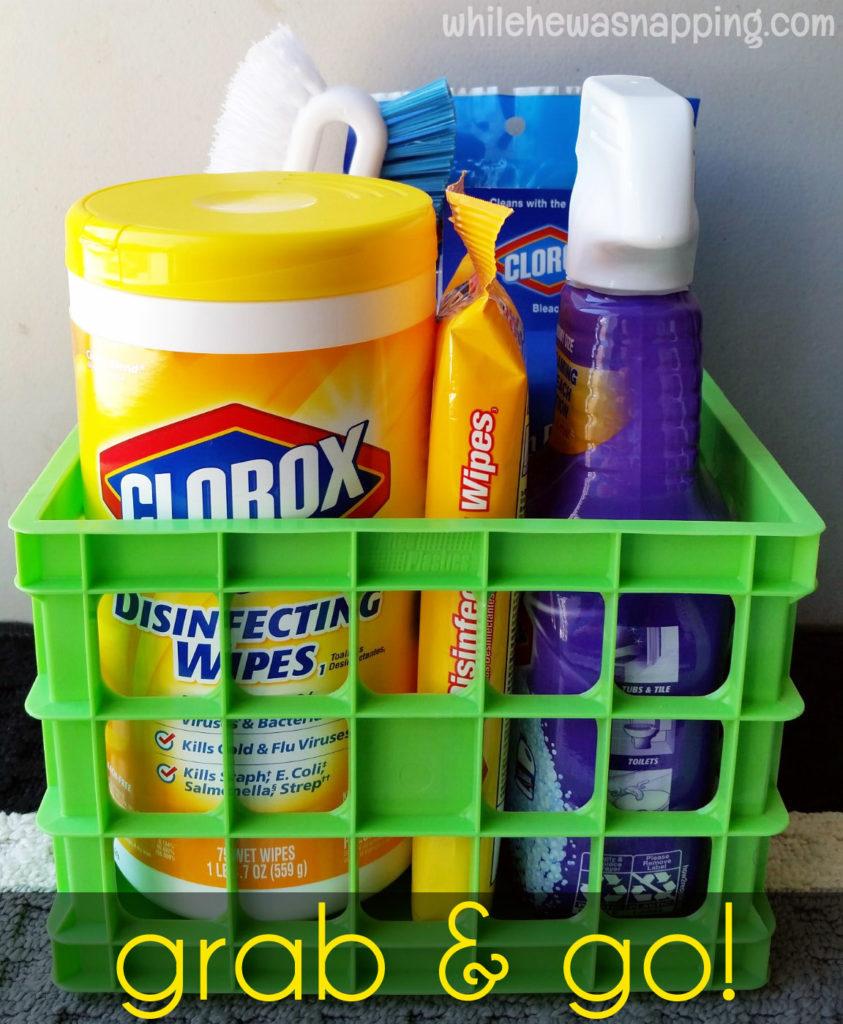 Back To Clean Clorox Grab&Go Clean Up Kit Basket