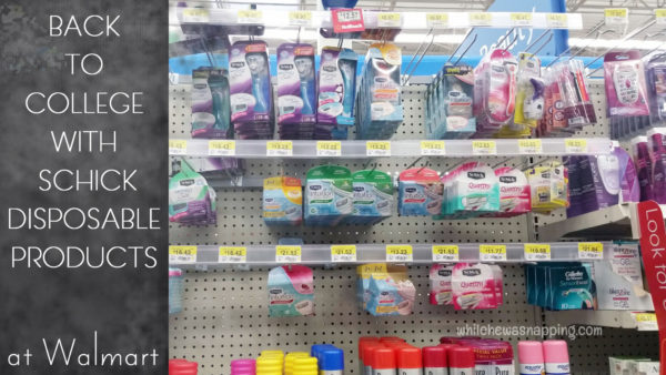 Back To College With Schick at Walmart Women's Schick Products