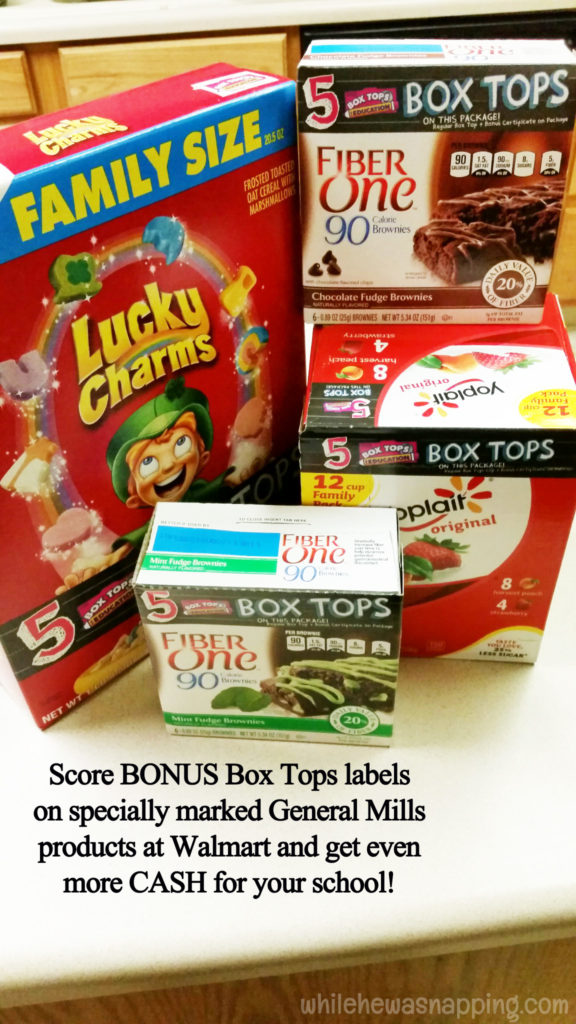 Box Tops for Education General Mills Bonus Box Tops Collection Box DIY BONUS Box Tops