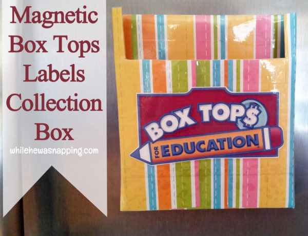 Box Tops for Education General Mills Bonus Box Tops Magnetic Collection Box Close Up